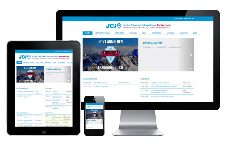 JCI Switzerland Intranet